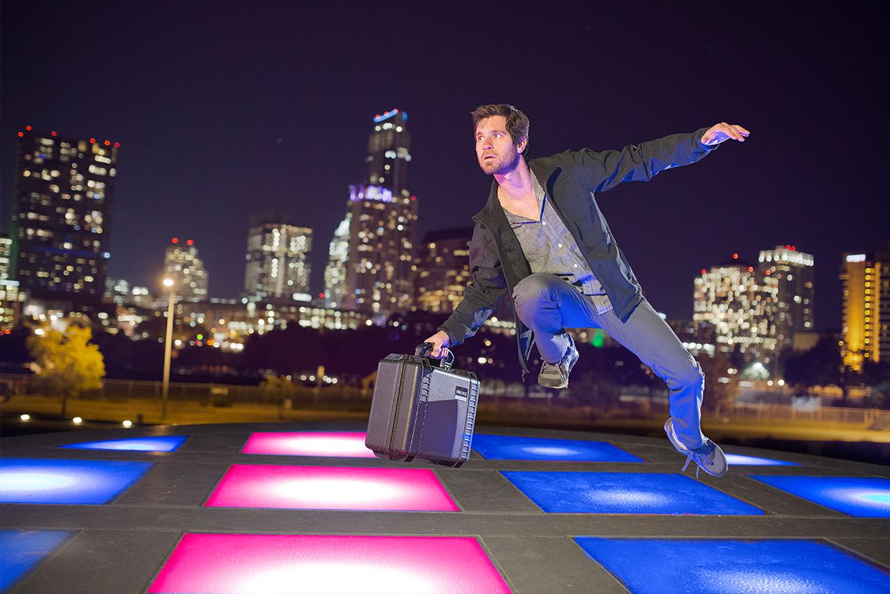 Conceptual levitation portrait ausin texas