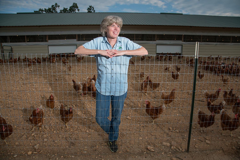 editorial portrait of farmer